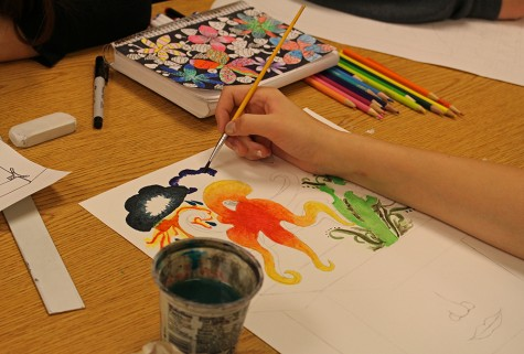 Art students pursue their passions
