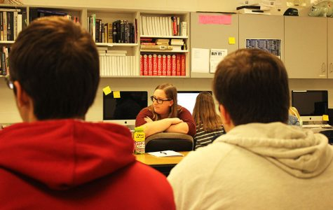 Political roundtable with teachers, students