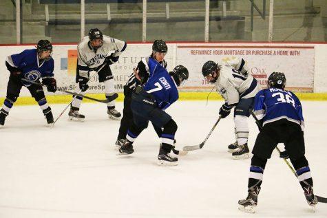Hockey team works hard during the break