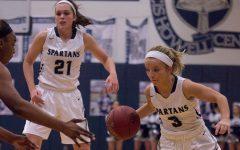Varsity girls basketball wins senior night