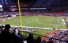 Argentina and Bosnia and Herzegovina warm up before their game at Busch Stadium on November 18th.