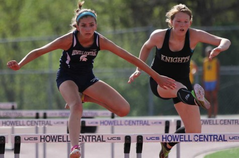 The girls track team takes on Howell High, Howell North, and Timberland