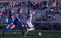 Girls soccer victory at sunset